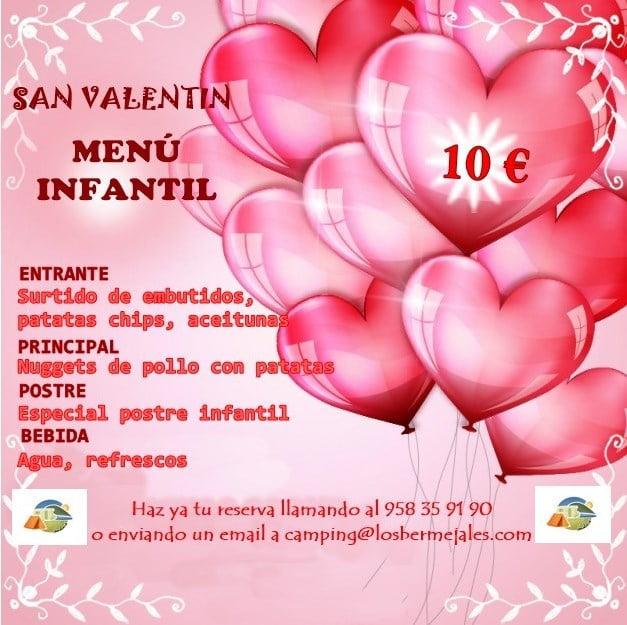 MENU INFANTIL SAN VALENTIN