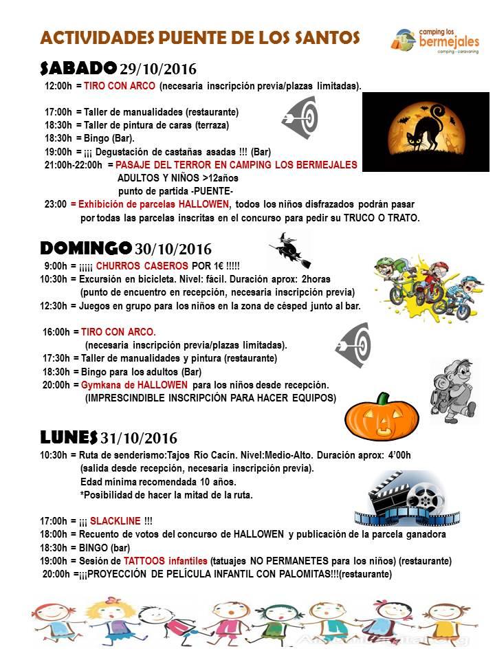 programa de actividades HALLOWEEN 2016